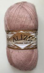Angora gold  (Alize) 406-розовая пудра