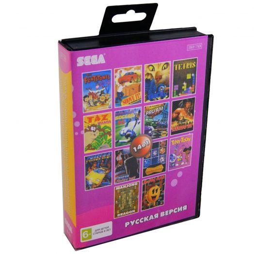 Sega картридж 14в1 (B-14) RAMBO 3/ TINY TOON/ FLINSTONE/ TAZ MANIA/ CHASE HQ 2