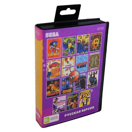 Sega картридж 15в1 (B-23) SONIC/BATTLE TOADS/BARE KUNC/TURBO OUTRUN/+