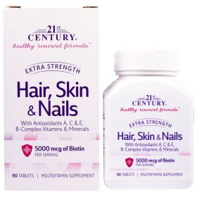 21st Century Hair Skin & Nails Extra Strength (90 табл.)