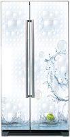 Наклейка на холодильник - Всплеск купить в магазине Интерьерные наклейки