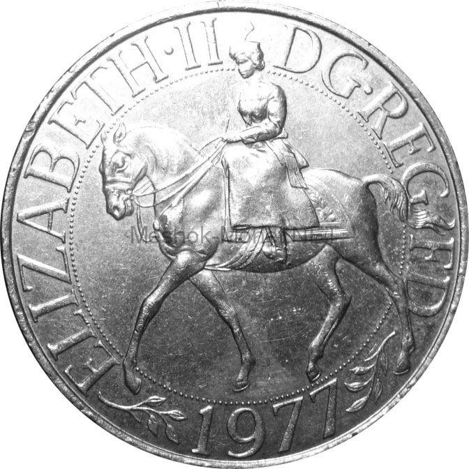 Великобритания 25 пенсов 1977 г.