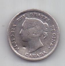 5 центов 1881 г. Канада. Великобритания