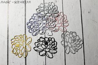 """Вырубка """"Цветок пиона"""" - выберите цвет"""