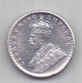 1/4 рупии 1934 г. AUNC Индия. Великобритания