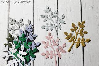 """Вырубка """"Веточка с листьями"""" - выберите цвет"""