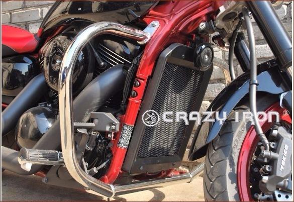 [CRAZY IRON] Дуги для Kawasaki VN1500/1600 Mean Streak 2002-2008, цвет Черный Матовый