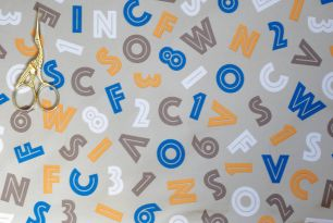 Буквы на серо-кофейном FAILLE 