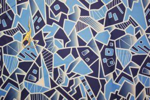 Геометрикс голубой FAILLE 