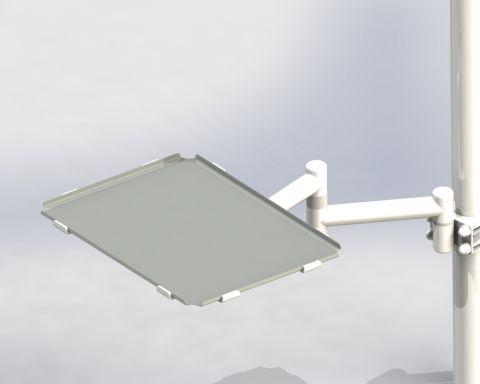 Столик инструментальный DS-Tab-30-2  (нерж сталь / стекло)