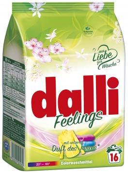 Dalli Feelings Стиральный порошок для стирки цветного белья с свежим цветочным ароматом 16 стирок 1,04 кг