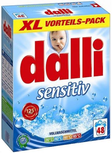 Dalli Стиральный порошок без красителей Sensitive 48 стирок 3,12 кг
