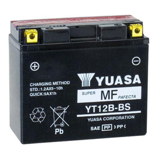 Мото аккумулятор АКБ YUASA (Юаса) YT12B-BS 12B-4 10 Ач п.п.