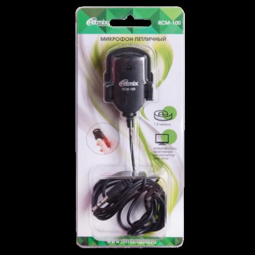 Микрофон ПК Ritmix прищепка RCM-100