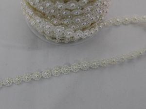 Полубусины на нитях 10 мм, длина 25м, цвет кремовый