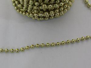 Бусины на нити 6 мм, длина 25м, цвет золото