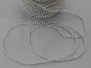 `Бусы на нити, диаметр 3 мм, цвет белый