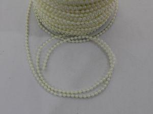 `Бусы на нити, диаметр 3 мм, цвет кремовый