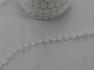 `Полубусины на нитях 10 мм, цвет белый, Арт. Р-БСН0041