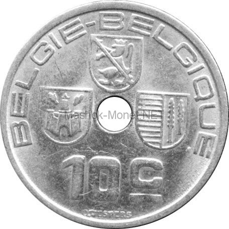 Бельгия 10 сентим 1939 г.
