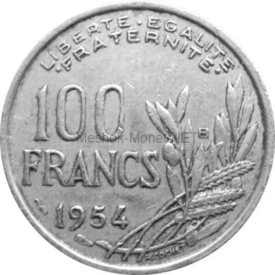 Франция 100 франков 1954 г.