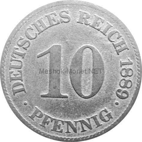 Германия 10 пфеннигов 1900 г.