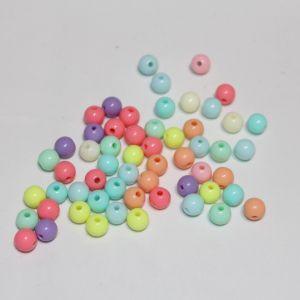 Бусины 6 мм, цвет МИКС (1уп = 100шт), Арт. БС1107