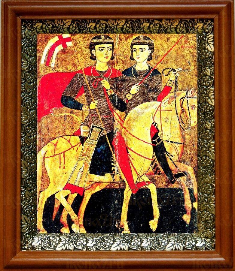 Сергий и Вакх (19х22), светлый киот