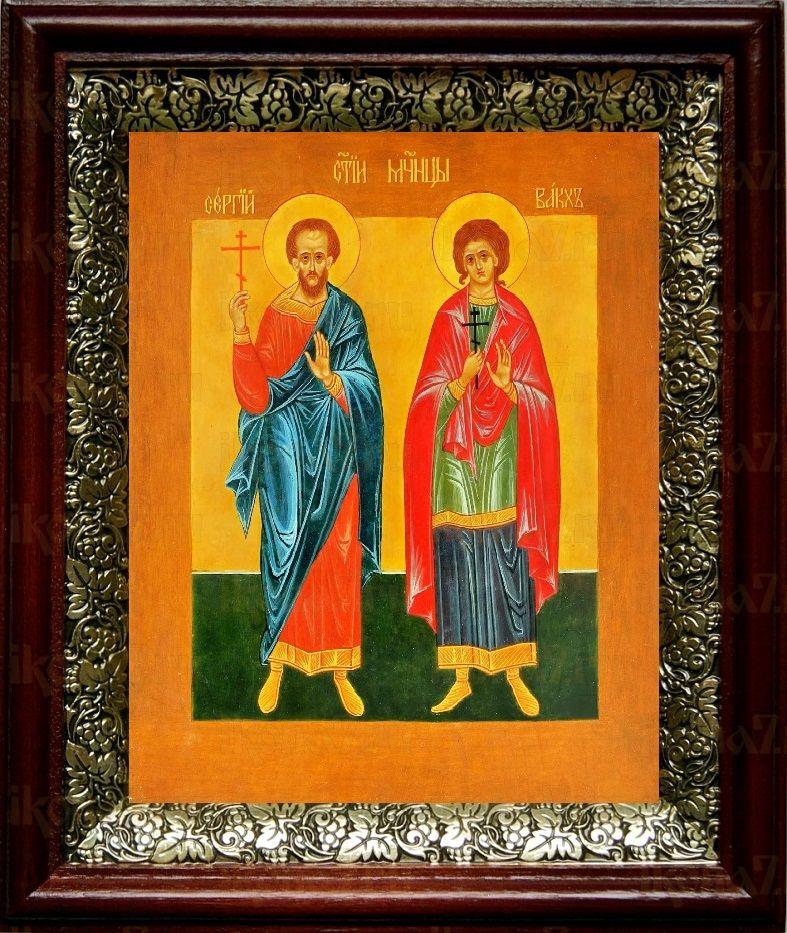 Сергий и Вакх (19х22), темный киот