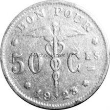 Бельгия 50 сентим 1922 г.
