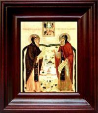Сергий и Герман Валаамские (21х24), простой киот