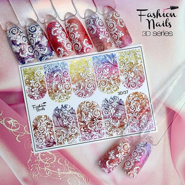 3D слайдер дизайн Fashion Nails #37