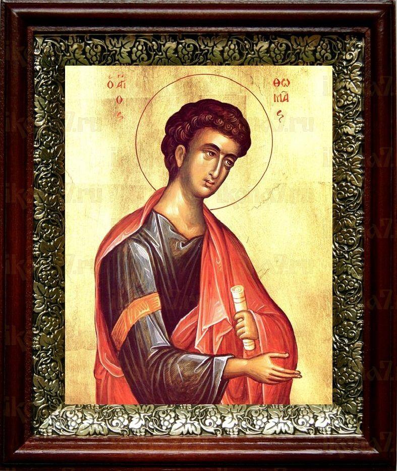 Фома Дидим (Близнец) (19х22), темный киот