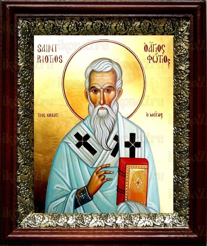 Фотий Константинопольский (19х22), темный киот