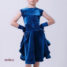 Платье для спортивных танцев, бархат