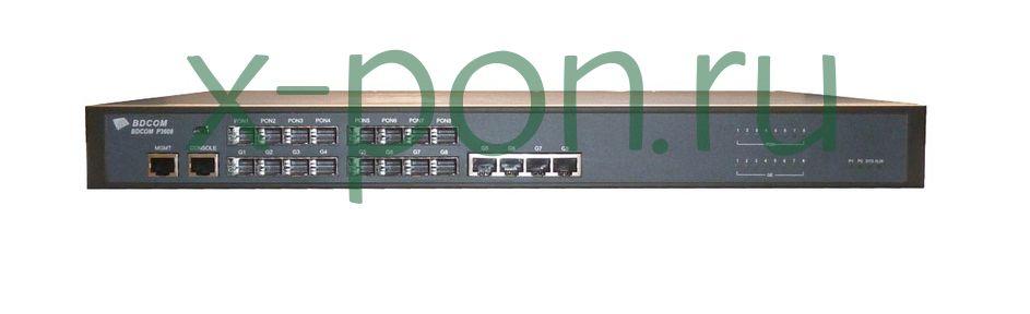 Головной терминал для FTTx (OLT) BDCOM P3608-2TE 8 EPON Port L3