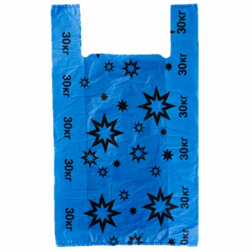 ХОЗТОВАРЫ МК018 Пакеты Звезда СИНИЕ р.36/60 см, 100 шт. в упаковке.