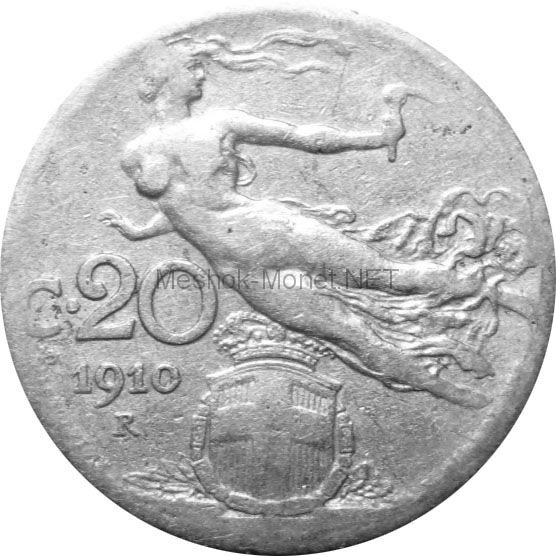 Италия 20 чентезимо 1912 г.