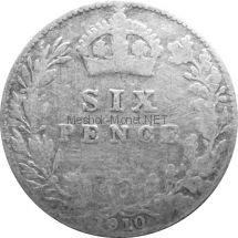 Великобритания 6 пенсов 1910 г.