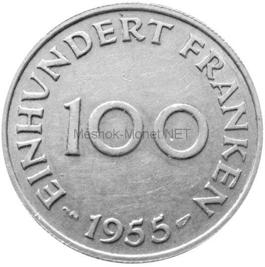 Саарленд (Германия) 100 франков 1955 г.