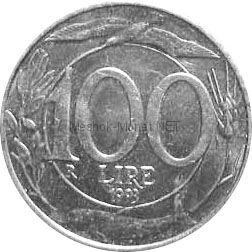 Италия 100 лир 1994 г.
