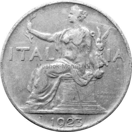 Италия 1 лира 1923 г.