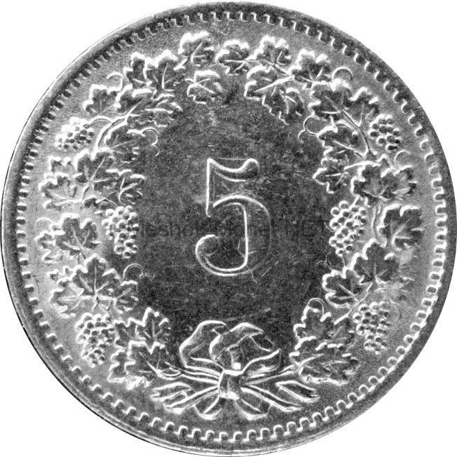 Швейцария 5 рапп 1970 г.