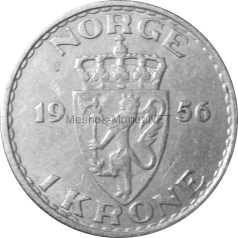 Норвегия 1 крона 1956 г.