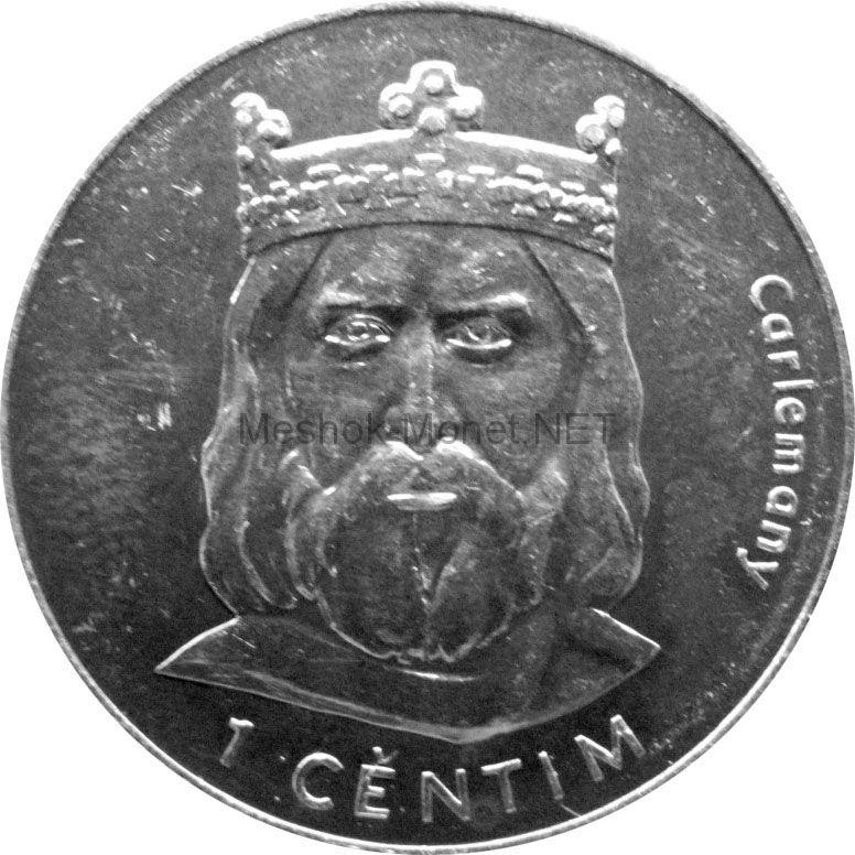 Андорра 1 сентим 2002 г. KM#176