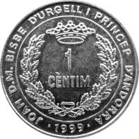 Андорра 1 сентим 1999 г. ФАО