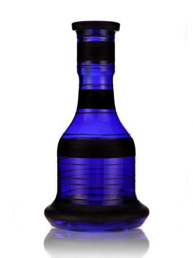 Колба для кальяна АртКальян синяя колокол с черными кольцами