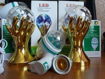 Диско-лампа Рука LED Full Color Rotating Lamp
