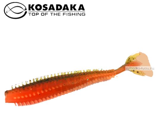 Купить Виброхвост Kosadaka Spikey Shad 120, 4шт., цвет DM SSH-120-DM