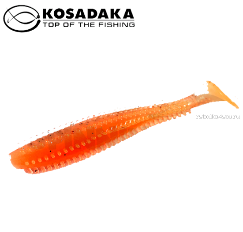 Купить Виброхвост Kosadaka Spikey Shad 120, 4шт., цвет ORG SSH-120-ORG